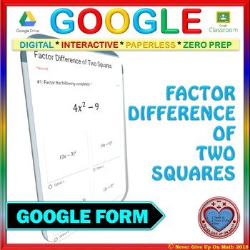 EMOJI - Factor by Grouping NO GCF (LEVEL 1) (Google Interactive & Hard Copy)