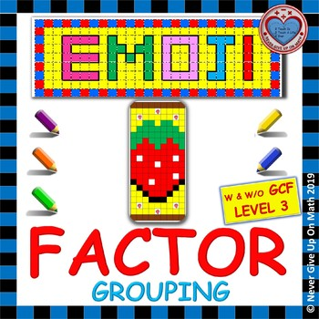 EMOJI - Factor by Grouping (With & Without GCF) Level 3