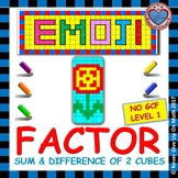 EMOJI - Factor Sum & Difference of 2 Cubes (NO GCF - Level 1)