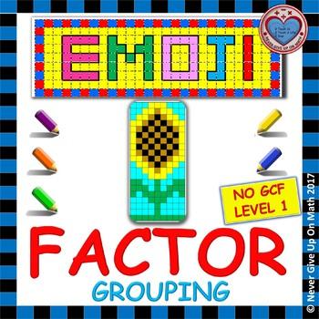 EMOJI - Factoring - Factor by Grouping (NO GCF)