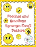 EMOJI Feelings and Emotions Synonym Posters