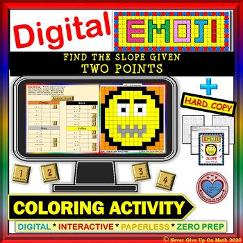 EMOJI - Find Slope from 2 Points (Google Interactive & Hard Copy)
