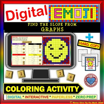 EMOJI - Find Slope from Graph (Google Interactive & Hard Copy)