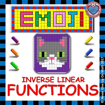 Emoji Find The Inverse Of A Linear Function By Never Give Up On Math