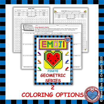 EMOJI - Finite Geometric Series (2 OPTIONS)