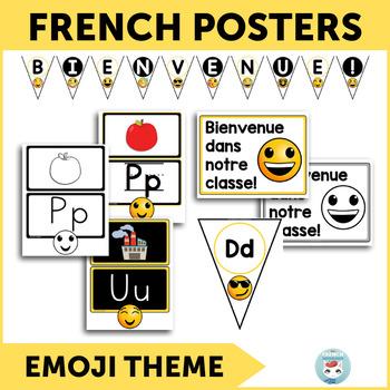 French alphabet posters | alphabet bunting | bienvenue EMOJI | L'alphabet