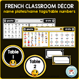 French desk name plates | name tags | table numbers EMOJI
