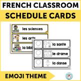 French schedule cards EMOJI | Menu du jour | Horaire de classe