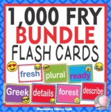 EMOJI Fry Sight Words Flash Cards, Letters and Numbers - BUNDLE 1,000 words