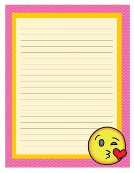 EMOJI Full Page, Half Page and Small Notes Stationery Set