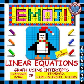 EMOJI - Graphing Functions using Intercepts