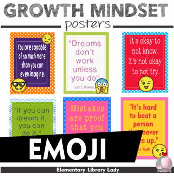 """EMOJI Growth Mindset Posters - 8.5""""x11"""", 18""""x24"""" - Ready for Printing"""