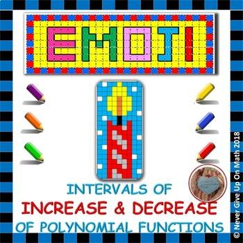 EMOJI - Increase & Decrease Intervals of Polynomial Functions
