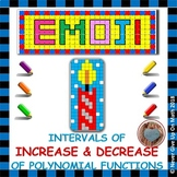 EMOJI - Intervals of Increase & Decrease of Polynomial Functions