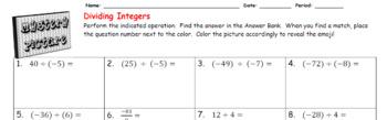 EMOJI - Integers: Dividing Integers
