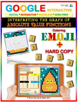 EMOJI - Interpreting Absolute Value Functions (Google Interactive & Hard Copy)