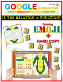 EMOJI - Is the Relation a Function? (Google Interactive & Hard Copy)