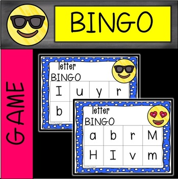 EMOJI Letter Bingo