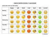 EMOJI MOODS WEEKLY CALENDAR 1PGR
