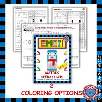 EMOJI - Matrix Operations (Level 2)