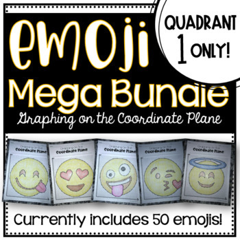 EMOJI Mega Bundle- Graphing on the Coordinate Plane QUADRANT 1