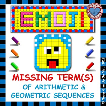 EMOJI - Missing Terms of Arithmetic & Geometric Sequences