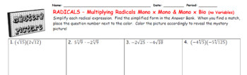EMOJI - Multiplying Radicals (Mono by Others) (Google Interactive & Hard Copy)