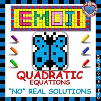 """EMOJI - Quadratic Equations with """"NO"""" Real Solutions - PARCC (DISCRIMINANT)"""