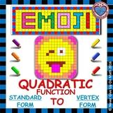EMOJI - Quadratic Functions - Converting Standard Form to Vertex Form
