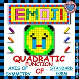 EMOJI - Quadratic Functions - Find the Axis of Symmetry (Standard Form)