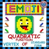 EMOJI - Quadratic Functions - Find the Vertex (Standard Form)
