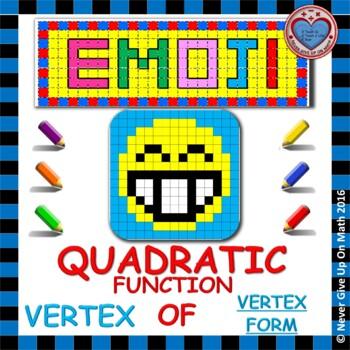 EMOJI - Quadratic Functions - Find the Vertex (Vertex Form)