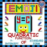 EMOJI - Quadratic Functions - Find the y-intercept (Standard Form)