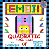 EMOJI - Quadratic Functions - Find the y-intercept (Vertex Form)
