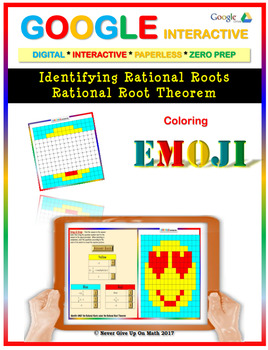 EMOJI - Rational Roots of Polynomial Functions (Google Interactive & Hard Copy)