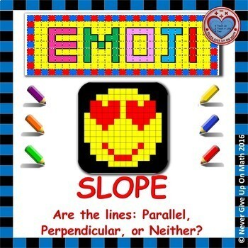 EMOJI - SLOPE - Are the Lines Parallel, Perpendicular, or