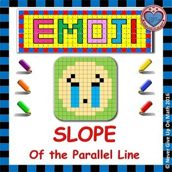 EMOJI - SLOPE - Find slope of PARALLEL lines (graph, points, table, equation)