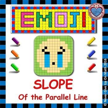 EMOJI - SLOPE - Find slope of PARALLEL lines (graph, points, table, equation)