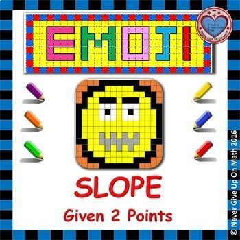 EMOJI - SLOPE - Find the slope given 2 points