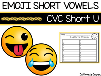 EMOJI Short Vowel U CVC Words