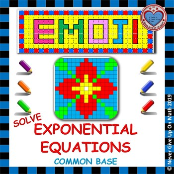 EMOJI - Solve Exponential Equations using Common Base (Simple)