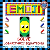 EMOJI - Solve Logarithmic Equations: Must Condense