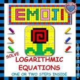 EMOJI - Solve Logarithmic Equations (Simple)