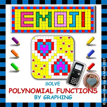 EMOJI - Solve Polynomial Equations using a Graphing Calculator (Real Roots Only)