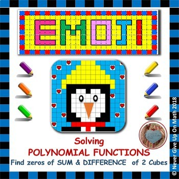 EMOJI - Solve Polynomial Functions: Sum & Difference of Two Cubes