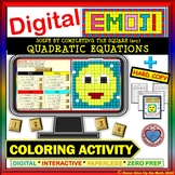 EMOJI - Solve Quadratic Equations Completing the Square a=1 (Google & Hard Copy)