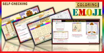 EMOJI - Solve Quadratic Equations (Google Interactive & Hard Copy)
