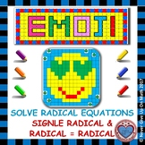 EMOJI - Radical Equations: Radical = Radical or Number (st patricks day math)