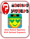 EMOJI - Solve Radical Equations with Rational Exponents (st patricks day math)
