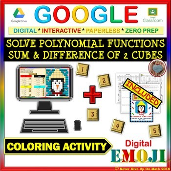 EMOJI - Solve Sum & Difference of 2 cubes (Google & Hard Copy)